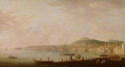 View of the Bay of Naples from the West, with the Abbey of San Martino and Castel Sant'Elmo