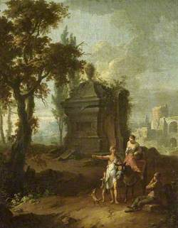 Landscape with a Tomb and Figures