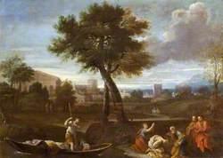 Landscape with Saint Peter Baptising