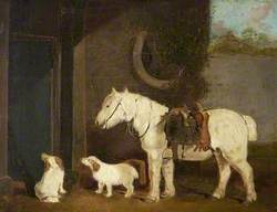 'Scrub', a Shooting Pony Aged 30, and Two Clumber Spaniels