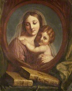 Trompe l'oeil of the Madonna and Child (after Raphael) and the Two Testaments