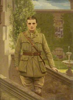Henry Colt Arthur Hoare (1888–1917), at Stourhead in the Uniform of the 1st Queen's Own Yeomanry