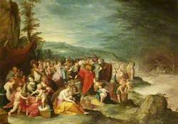 The Israelites Gathering around Joseph's Sarcophagus after the Crossing of the Red Sea
