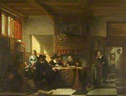 Rent Day, Dutch Clerics in a Voerhuis