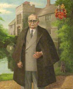 Thomas Ferrers (formerly Walker) (1887–1970), Standing in front of Baddesley Clinton