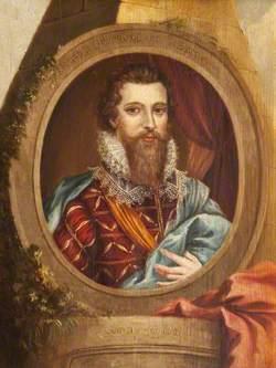 Robert Devereux (1566–1601), 2nd Earl of Essex, in a Memorial Setting
