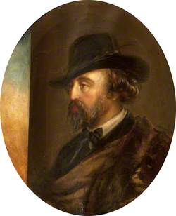 Marmion Edward Ferrers (1813–1884), in Three-Quarters Profile to the Left, in a Hat