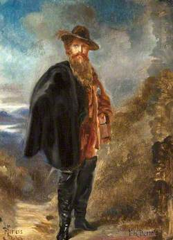 Edward Heneage Dering (1826–1892), Standing, in Boots and a Cloak
