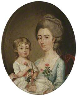 Grace Searle, Mrs William Benthall, and Her Son Thornton Benthall