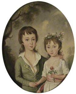 William Searle Benthall (d.1854), and His Sister Elizabeth Benthall