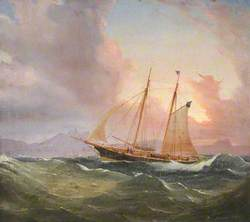 Cutter in a Swell (The Yacht 'Diadem')