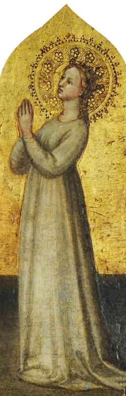A Crowned Female Saint in Prayer (Saint Elizabeth?)