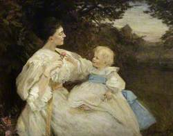 Ada Christina Lucy (1866–1943), Lady Ramsay-Fairfax-Lucy and Her Eldest Son William (1885–1910)