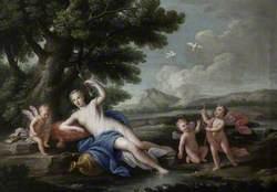 Venus and Three Cupids in a Landscape