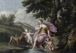 Diana with Cupids at the Bath