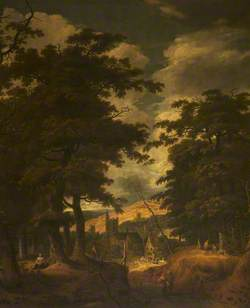A Wooded Landscape with a Village