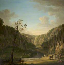 View of the Peak: Reynard's Cave and Kitchen, in Dovedale
