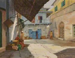 A Street Scene in Zanzibar