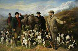 Hunting Scene of Windermere Harriers with George Ridehalgh (1835–1892), as Master