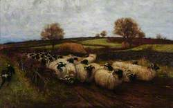 Landscape with Sheep and a Sheep Dog