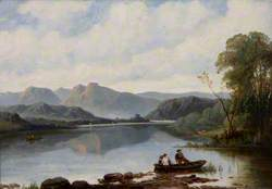 Langdale Pikes from Low Wood, Windermere