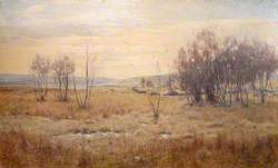 Moorland Landscape with Bare Trees