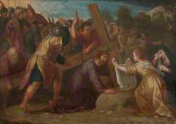The Road to Calvary with Simon of Cyrene and Saint Veronica