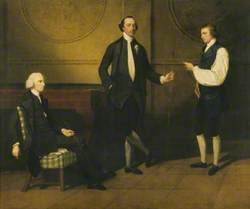 The Reverend Charles Everard Booth (c.1726–1792), Captain Griffith Booth, RN, and an Unidentified Man, Playing Billiards