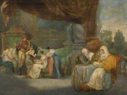 A Conversation Piece, with Robert, 1st Marquess of Londonderry, His Second Wife, Lady Frances Pratt, Her Son, Charles William, Later 3rd Marquess, and Her Four Younger Daughters, Selina, Matilda, Emily Jane and Octavia