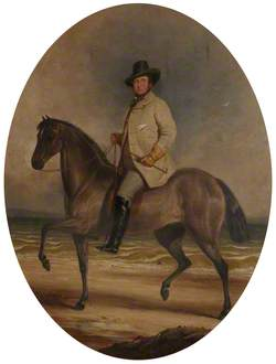 Frederick William Robert Stewart (1805–1872), 4th Marquess of Londonderry, KP, PC, on a Horse by the Sea