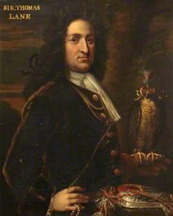 Sir Thomas Lane (d.1715), of Bentley, with a Falcon