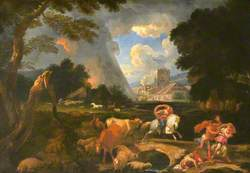 Landscape with Moses and Aaron Calling Down the Plague of Hail upon Egypt