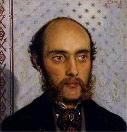 William Michael Rossetti (1829–1919), by Lamplight