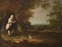 John Carbonell (1760–1837), in the Grounds of His House at Windsor