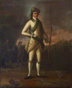 Master Middleton (?), Preparing to Shoot for the Silver Arrow at Harrow, 5 August 1758