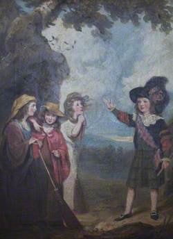 Four Children Acting Macbeth and the Witches