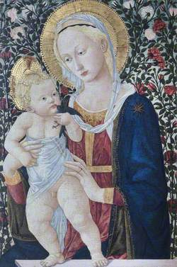 Madonna and Child before a Rose Hedge