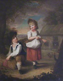 The Honourable Sir Edward Cust (1794–1878), Later 1st Baron Cust of Leasowe Castle, Cheshire, and His Sister, The Honourable Anne Cust (d.1867), Later Lady Middleton, as Children