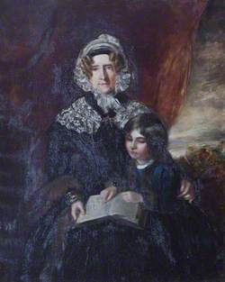 Frances Bankes (1756–1847), Lady Brownlow, and Her Great-Grandson John William Spencer Brownlow Egerton Cust (1842–1867), Later 2nd Earl Brownlow