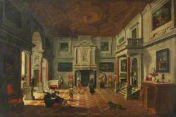 A Banqueting Hall with Figures