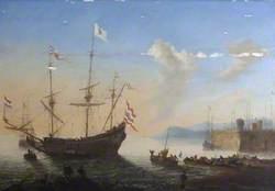 A Dutch Ship in a Harbour