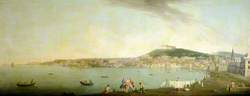 A View of Naples Seen from the South with Maschio Angiono and the Monastery of San Martino on the Hill beyond
