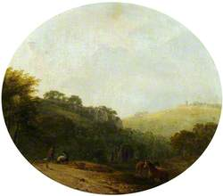 Figures and Horses in a Rural Landscape