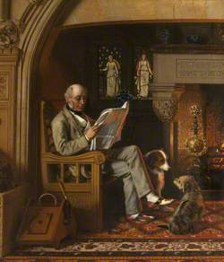 Sir William George Armstrong (1810–1900), 1st Baron Armstrong of Cragside, in the Inglenook at Cragside