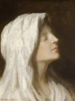 Head of a Girl in a White Headdress
