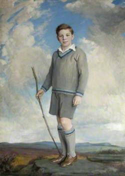 William Henry Cecil John Robin Watson-Armstrong (1919–1987), 3rd Baron Armstrong of Bamburgh and Cragside, as a Young Boy