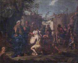 Cain Supervising the Building of the Walls of Enoch