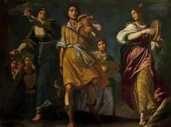 The Israelites Celebrating David's Triumph over Goliath