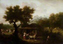 Landscape with Pastoral Figures and Animals from Milton's 'L'Allegro' (1645)