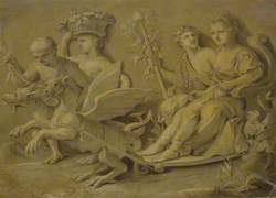 Bacchus and Ceres in a Chariot